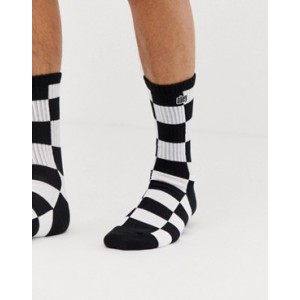 Obey Checkers Socks In White