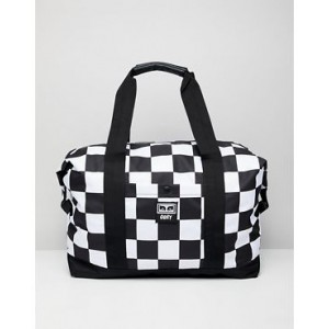Obey Drop Out weekender duffle in checkerboard