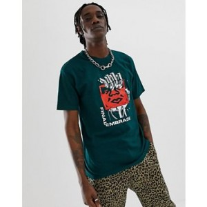 Obey Final Embrace T-Shirt In Green