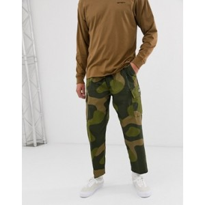 Obey Fubar Camo Cargo Pants In Loose Fit