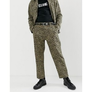 Obey Leopard Print Labor Carpenter Pants