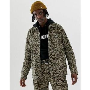 Obey Leopard Print Labor Jacket
