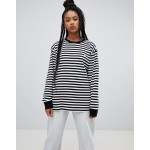Obey relaxed long sleeve t-shirt in breton stripe