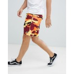 Obey subversion camo shorts in orange