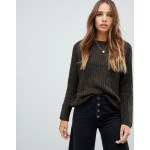 Only cable knit jumper with shoulder detail