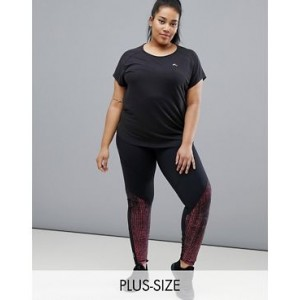 Only Play Plus printed mesh legging
