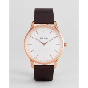Paul Smith PS0100002 slim leather watch in black 40mm