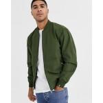 Pull&Bear Bomber Jacket In Green