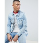 Pull&Bear Denim Jacket In Light Blue