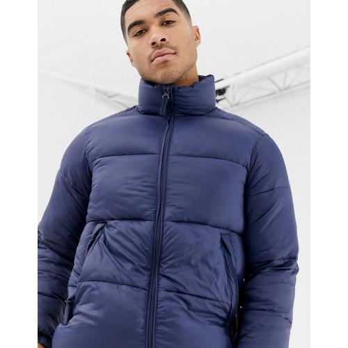 Pull&Bear puffer jacket in navy