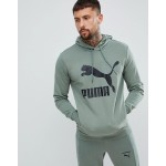 Puma Archive logo pullover hoodie in green 57679023