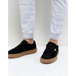 Puma Breaker Suede Gum Sneakers In Black 36607901