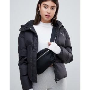 Puma Down Filled Black Jacket With Hood