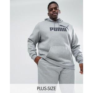 Puma Plus Essentials pullover hoodie in gray 85174303
