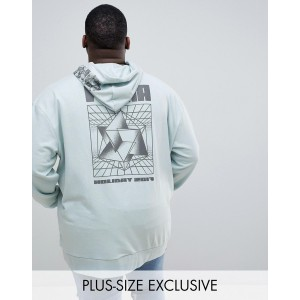 Puma PLUS hoodie with back print in green Exclusive at ASOS