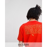 Puma t-shirt with back print in red Exclusive at ASOS