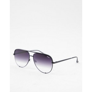 Quay Australia x Desi High Key sunglasses in black fade