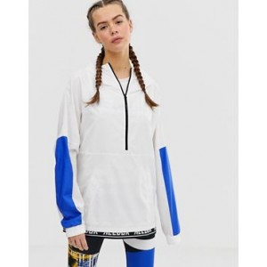 Reebok Training Color Block Jacket In White