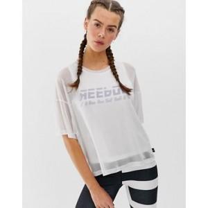 Reebok Training Mesh Double Layer T-shirt In White