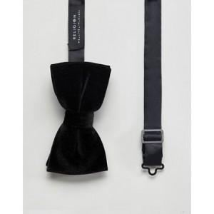 Religion bow tie in black velvet