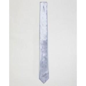 Religion skinny silver meTallic tie
