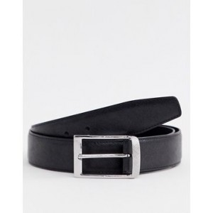 River Island belt with curved buckle in black