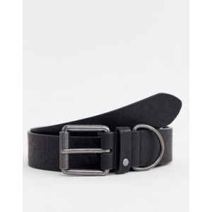River Island belt with double buckle in black