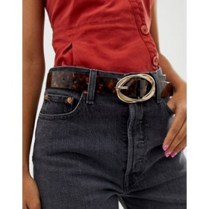 River Island belt with oversized buckle in tortoiseshell