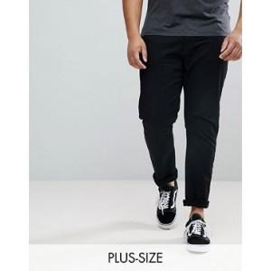 River Island Big & Tall slim jeans in black