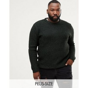 River Island Big & Tall crew neck sweater in green