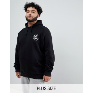 River Island Big & Tall hoodie in black
