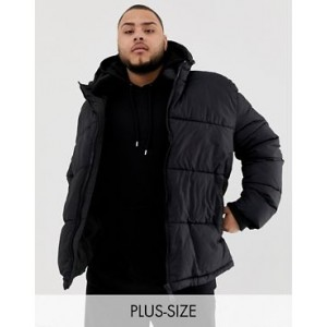 River Island Big & Tall puffer jacket in black