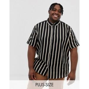 River Island Big & Tall shirt with black and tan stripes