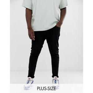 River Island Big & Tall skinny jeans in black