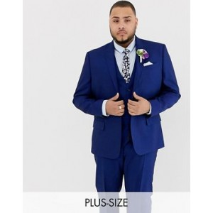 River Island big & tall suit jacket in bright blue