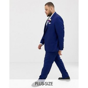 River Island big & tall suit pants in bright blue