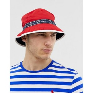 River Island bucket hat in red