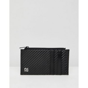 River Island card holder with zip pocket in black