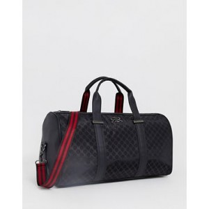 River Island carryall with monogram in black