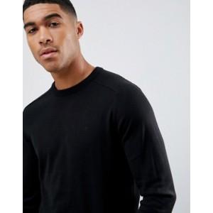 River Island crew neck jumper in black