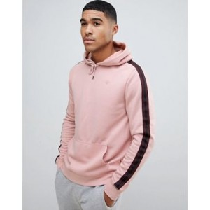 River Island hoodie with sleeve taping in light pink