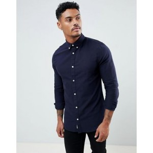 River Island oxford shirt in navy
