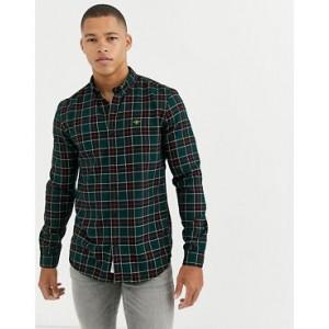 River Island regular fit shirt in green check