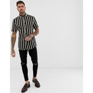 River Island shirt in black stripe