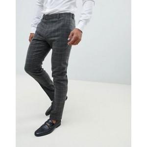 River Island skinny fit suit pants in dark brown