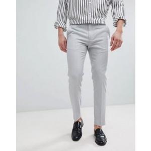 River Island Skinny Smart Pants In Light Gray