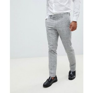 River Island skinny suit pants in light gray