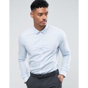 River Island slim fit shirt in light blue