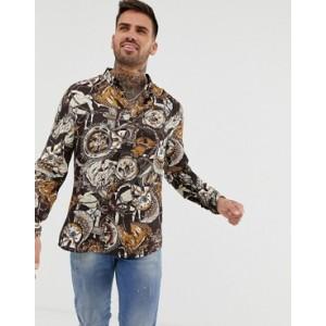 River Island slim shirt in brown
