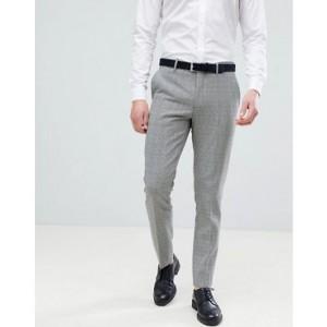 River Island Slim Smart Pants In Black Check